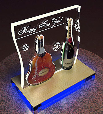 12 - Дисплей Hennessy & Moet Chandon
