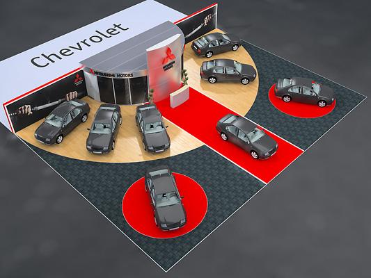 15 - 2 - Выставочный стенд Mitsubishi