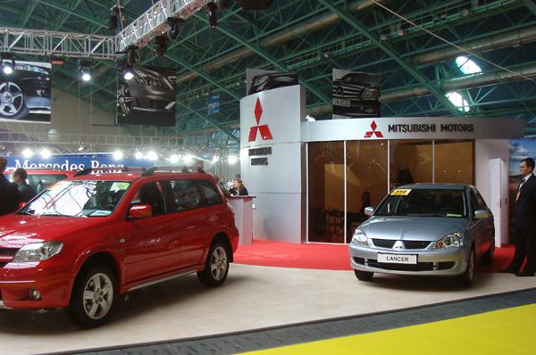 2 - Выставочный стенд Mitsubishi. Моторшоу 2009
