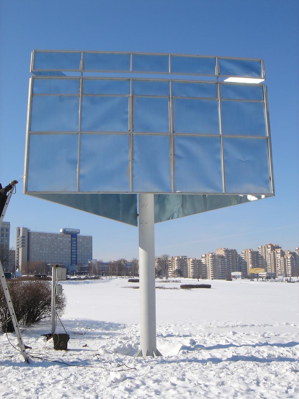 3 Трехплоскостной билборд. Основа для установки призматронов.