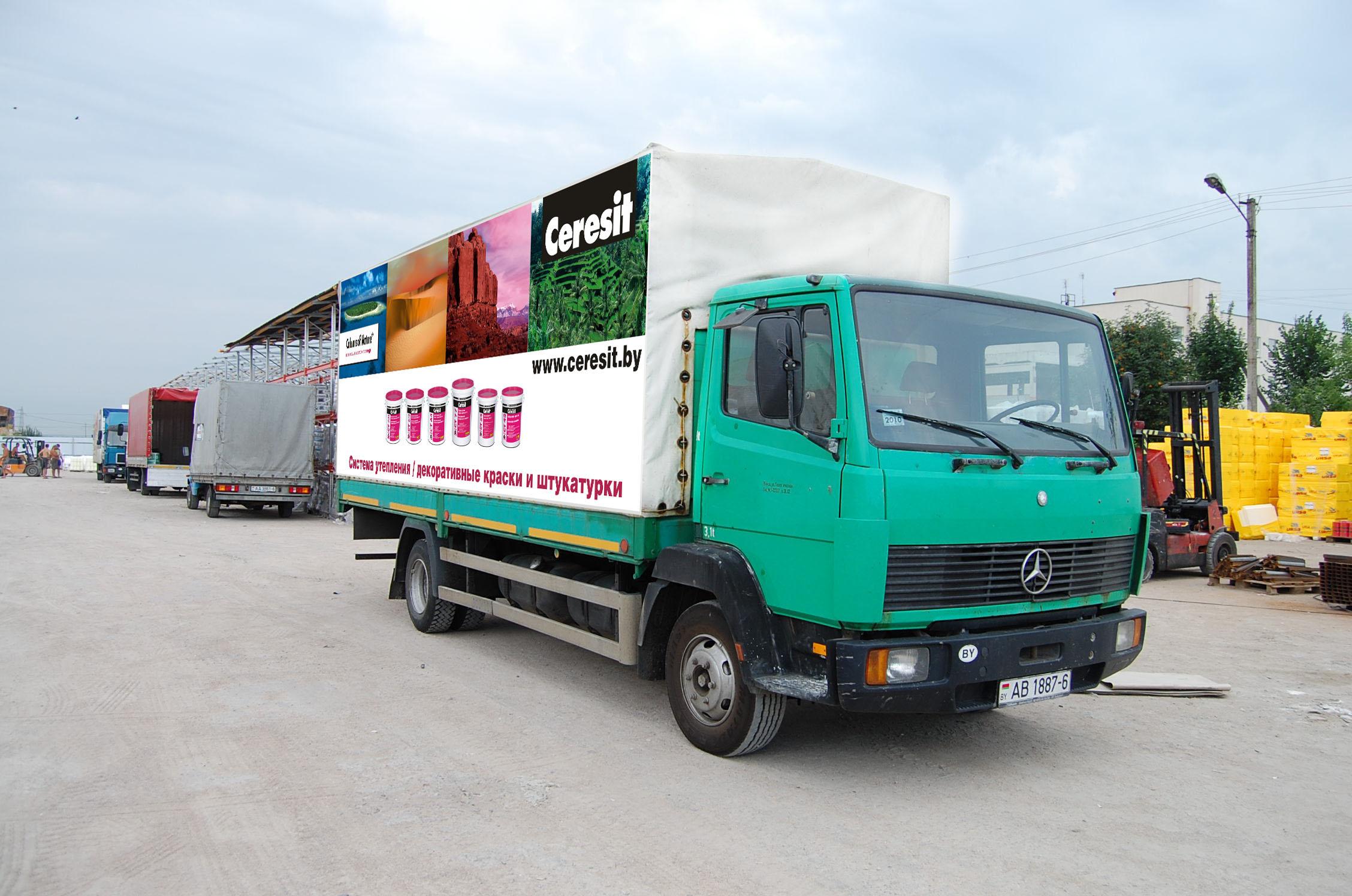 6 1 Рекламные изображения для тентах транспортных средств. Ceresit